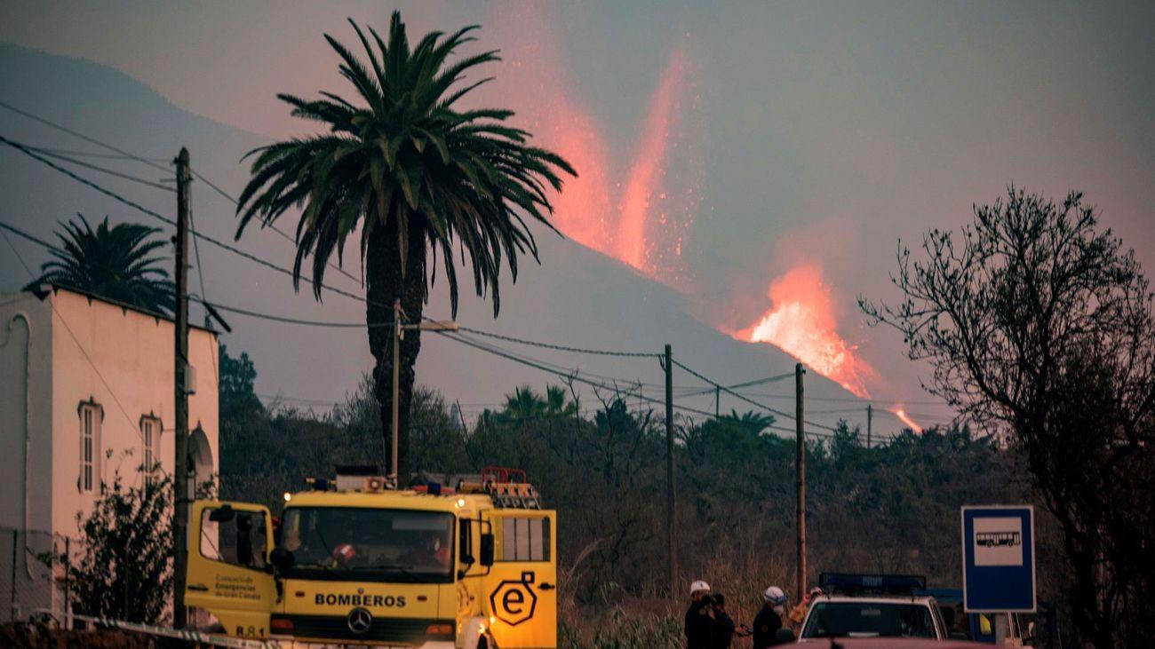 La cara norte del volcán de La Palma se ha derrumbado de manera parcial