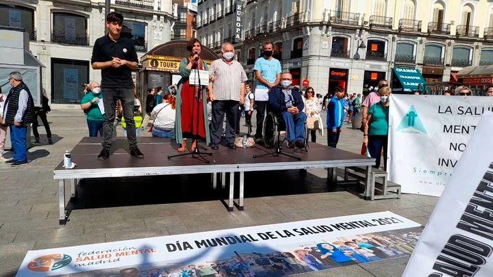 Marcha en el centro de Madrid para reivindicar mayor inversión en salud mental