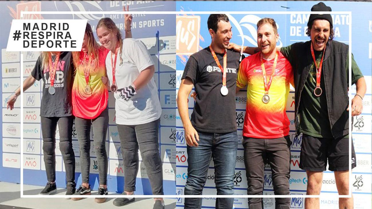 Los madrileños Esquer y Jódar, podio en el Campeonato de España de BMX free style