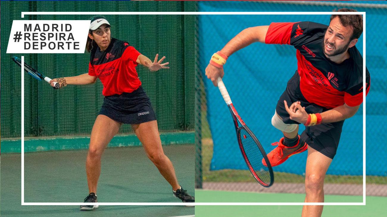 Manuel Montalvo y Lidia Moreno, subcampeones de España de tenis universitario