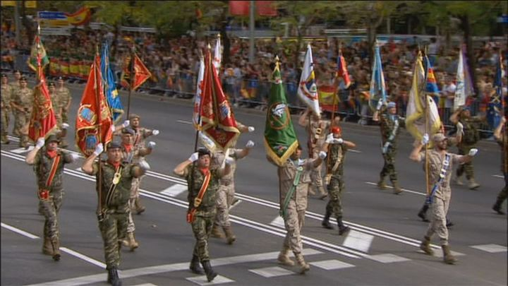 La UME, protagonista en el desfile por su apoyo durante Filomena, el Covid o el volcán de la Palma
