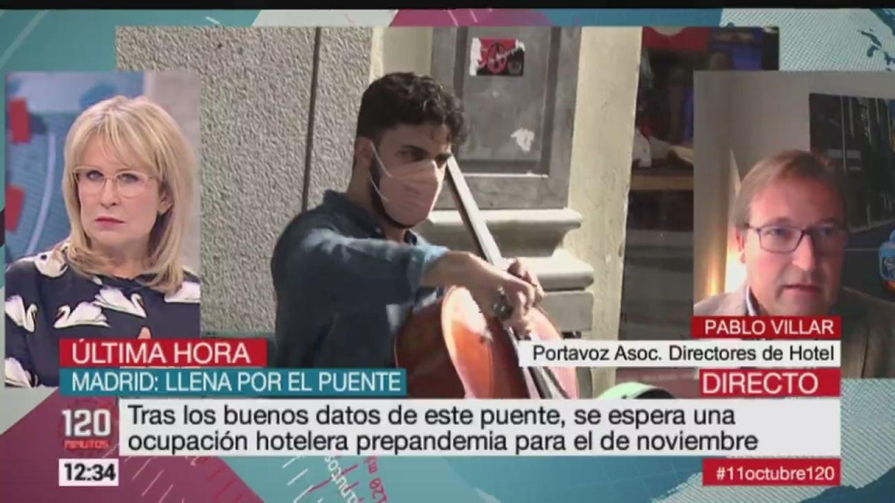 """El sector hotelero de Madrid """"aliviado""""  por un Puente del  Pilar al 85% de ocupación"""