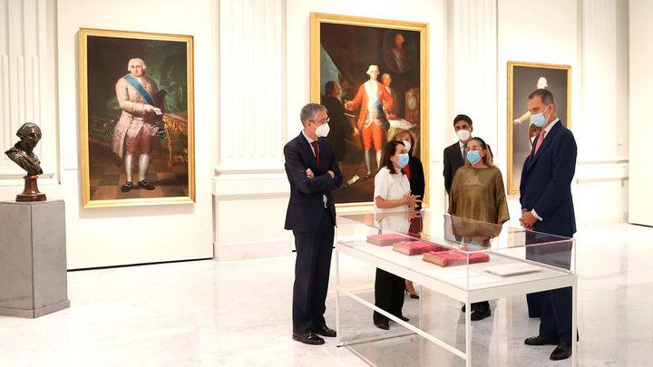 El rey inaugura el nuevo espacio expositivo del Banco de España con Goya