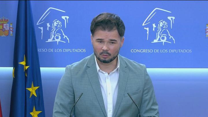 """ERC sigue en el 'no' a los Presupuestos, aunque utilizará """"toda la fuerza negociadora"""" en favor de Cataluña"""