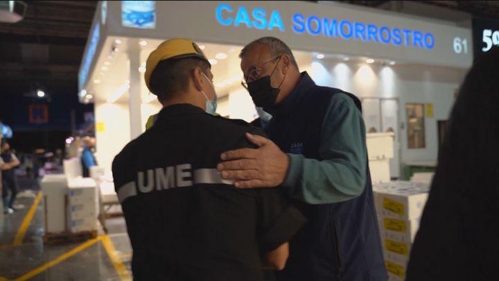 Mercamadrid homenajea a la UME por su labor durante Filomena y la pandemia