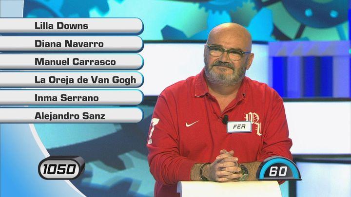 Alejandro Sanz, Diana Navarro y Manuel Carrasco, protagonistas de la prueba musical