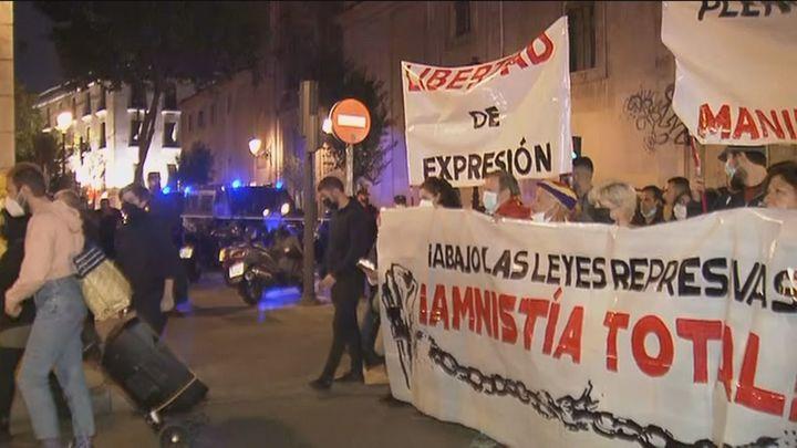 """La Policía blinda el centro y evita incidentes en una protesta de extrema izquierda contra las """"leyes represivas"""""""