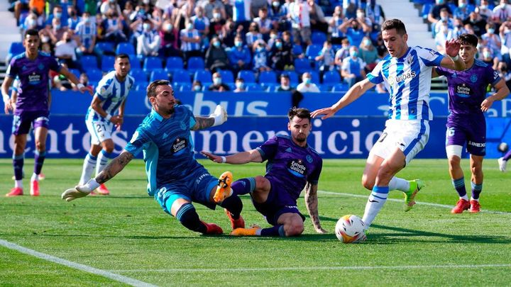 0-2. El Valladolid profundiza en la herida de un Leganés impotente