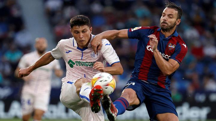 0-0.  El Getafe sigue sin ganar tras empatar con el Levante