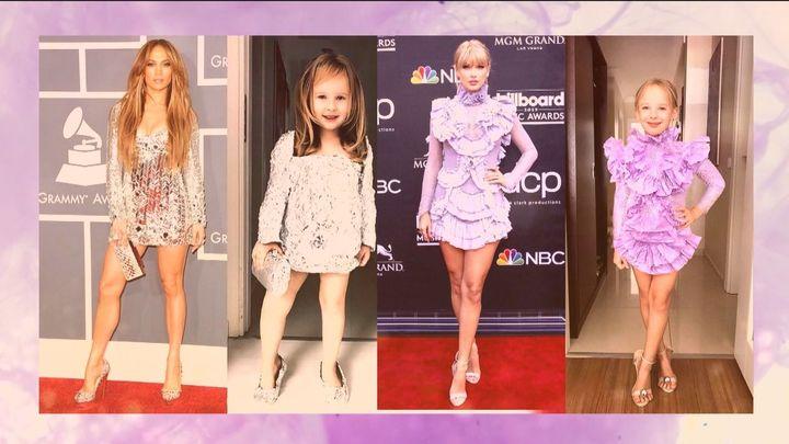 Esta niña de 8 años tiene 400.000 seguidores en redes sociales por sus estilismos imitando a las celebrities