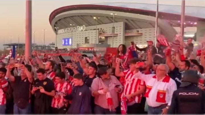 Afición del Atlético, una hinchada de Champions