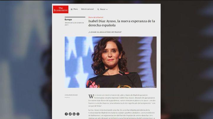 """'The Economist' denomina a Ayuso como """"la nueva esperanza de la derecha española"""""""
