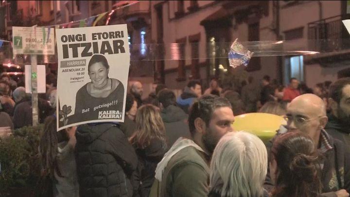 Manifestación en San Sebastián por el regreso de presos de ETA