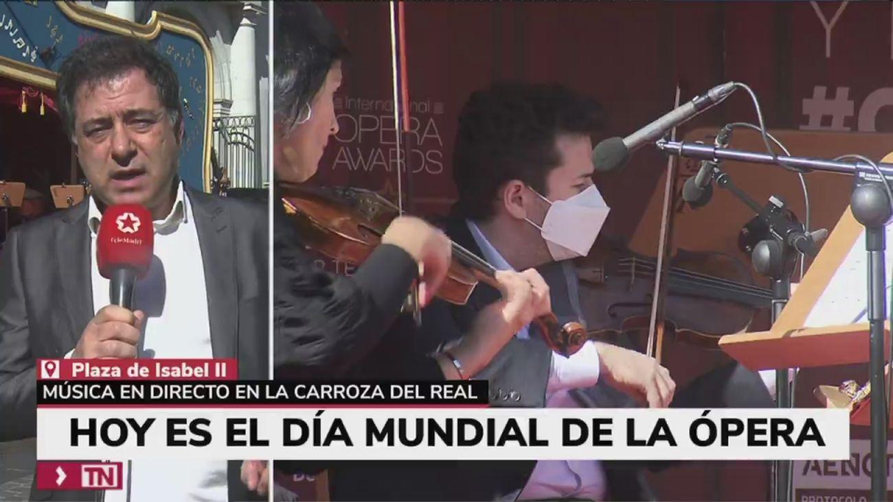 Mozart y Mills para celebrar, en las calles de Madrid, el Día de la Ópera