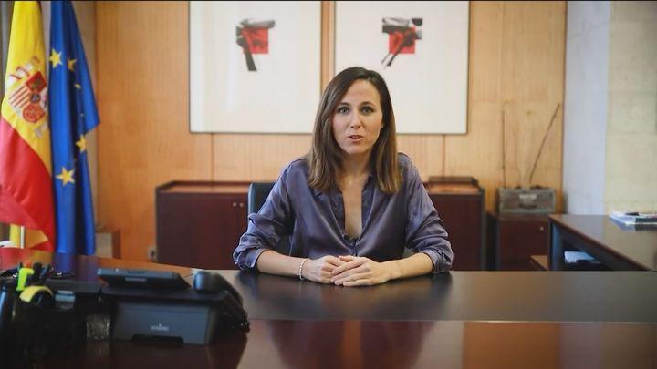 Belarra 'contraprograma' la rueda de prensa del Consejo de Ministros y reivindica la Ley de Vivienda