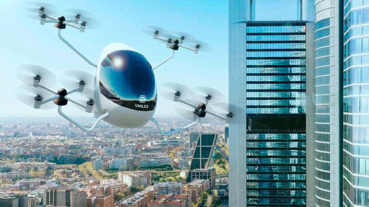 Presentado el primer aerotaxi español impulsado por drones