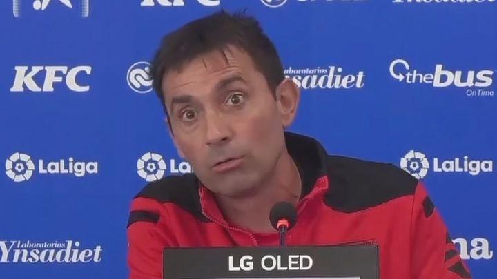 """Garitano: """"Garcés está entrenando. Lo que vaya a pasar, ya lo veremos"""""""