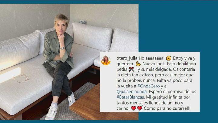 Julia Otero anuncia que le ha ganado la batalla al cáncer